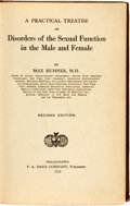 Books:Medicine, Max Hunter. A Practical Treatise on Disorders of the SexualFunction in the Male and Female. Philadelphia: F. A. Dav...