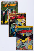Golden Age (1938-1955):Horror, Adventures Into The Unknown Group of 9 (ACG, 1951-54) Condition:Average VG-.... (Total: 9 Comic Books)