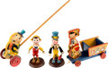 Animation Art:Limited Edition Cel, Pinocchio Vintage Toy Group (c. 1940s).... (Total: 6 Items)