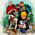 Animation Art:Production Drawing, Doug Wildey Jonny Quest Illustration (Hanna-Barbera, 1986)....
