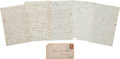 Miscellaneous:Ephemera, Civil War Union Soldier's Group of Four Letters Written by PrivateWilliam Hazen Noyes, Co. E, 12th Mass. Vols. ...