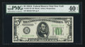 Small Size:Federal Reserve Notes, Fr. 1957-B* $5 1934A Federal Reserve Star Note. PMG Extremely Fine 40 EPQ.. ...