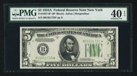 Fr. 1957-B* $5 1934A Federal Reserve Star Note. PMG Extremely Fine 40 EPQ