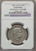 Coins of Hawaii , 1883 50C Hawaii Half Dollar -- Improperly Cleaned -- NGC Details.XF. NGC Census: (48/417). PCGS Population (100/572). Mint...