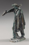 Bronze:European, After Jules Dalou (French, 1838-1902). Worker with a Shovel,circa 1895. Bronze with greenish-brown patina. 5-1/2 inches...