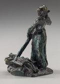 Sculpture, After Jules Dalou (French, 1838-1902). Hay Harvest, circa 1895. Bronze with greenish-brown patina. 4-3/4 inches (12.1 cm...
