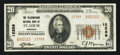 National Bank Notes:Missouri, Saint Louis, MO - $20 1929 Ty. 2 The Telegraphers NB Ch. # 12389....