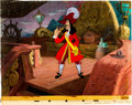 Animation Art:Painted cel background, Peter Pan Painted Master Background and Captain Hook ColorModel Cel Setup (Walt Disney, 1953)....
