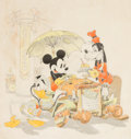 Animation Art:Production Drawing, Detroit Auto Show Mickey Mouse, Donald Duck, and GoofyIllustration Art (Walt Disney, 1938)....