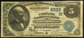 National Bank Notes:Indiana, Crawfordsville, IN - $5 1882 Date Back Fr. 537 The Citizens NB Ch. # (M)2533. ...