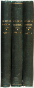 Books:Medicine, Walter George Spencer and George Ernest Gask. The Practice of Surgery. London: J. & A. Churchill, 1910.... (Total: 3 Items)