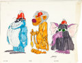 Animation Art:Concept Art, Jerry Eisenberg The Banana Splits Show Concept Art Group of 9 (Hanna-Barbera, 1968).... (Total: 9 Original Art)