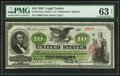 Large Size:Legal Tender Notes, Fr. 94 $10 1862 Legal Tender PMG Choice Uncirculated 63 EPQ.. ...