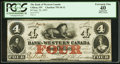 Canadian Currency: , Clifton, CW- Bank of Western Canada $4 Sep. 20, 1859 Ch. #795-10-12. ...