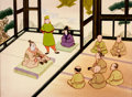 Animation Art:Production Cel, The Nightingale Production Cel and Key Master BackgroundSetup (Michael Spoon, 1992)....
