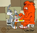 Animation Art:Limited Edition Cel, Hair Raising Hare Bugs Bunny and Gossamer Monster LimitedEdition Cel #345/500 (Warner Brothers, 1989)....