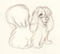 Animation Art:Production Drawing, Lady and the Tramp Peg Animation Drawing (Walt Disney, 1955)....
