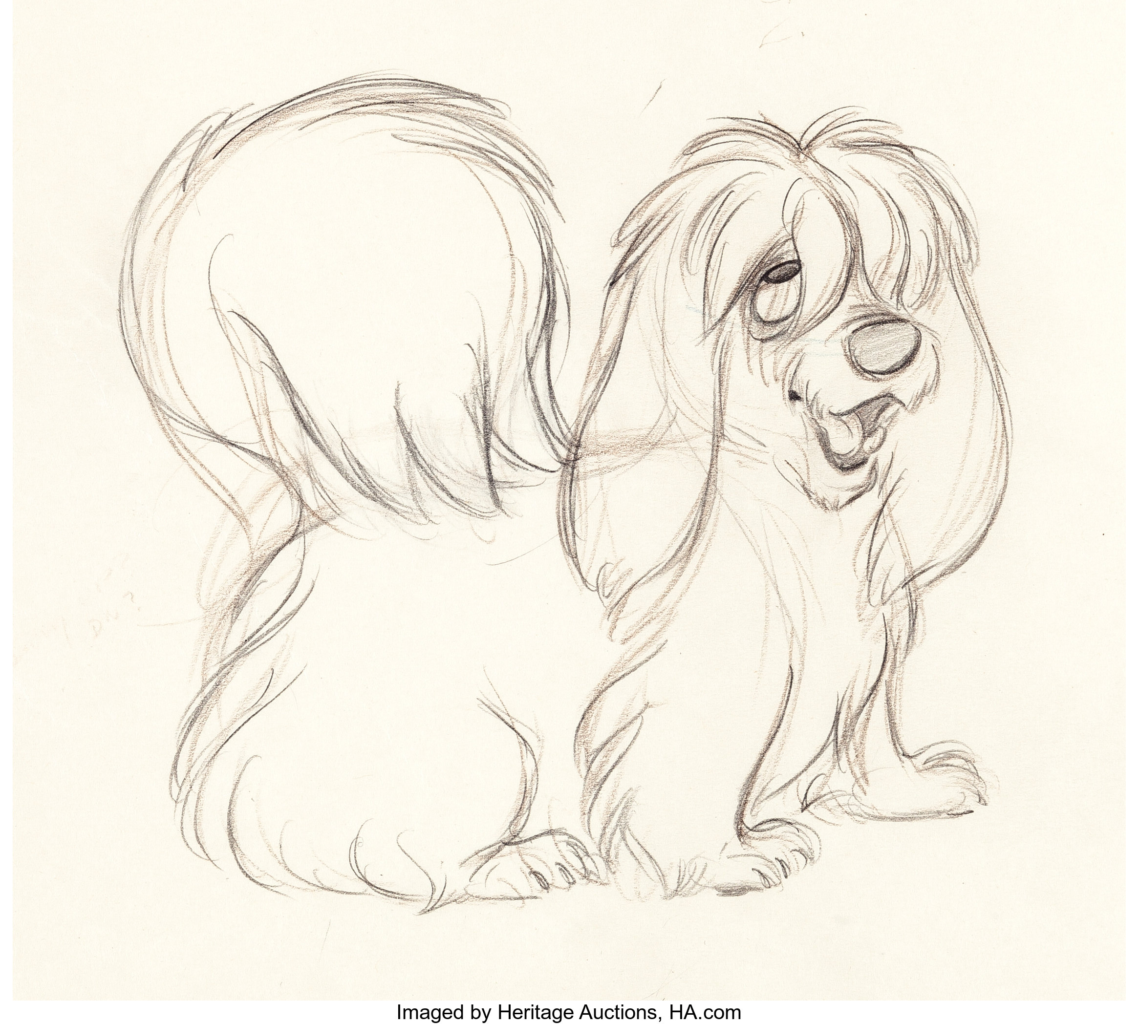 Lady And The Tramp Peg Animation Drawing Walt Disney 1955 Lot 97214 Heritage Auctions