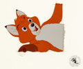Animation Art:Production Cel, The Fox and the Hound Tod Production Cel (Walt Disney, 1981)....