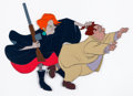 Animation Art:Production Cel, The Rescuers Madame Medusa and Snoops Production Cel (WaltDisney, 1977)....