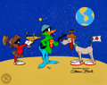 "Animation Art:Limited Edition Cel, ""Duck Dodger Trio"" Limited Edition Cel Setup (Warner Brothers,1990)...."
