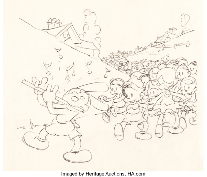 Animation ArtProduction Drawing Oswald The Lucky Rabbit Publicity Layout Walter