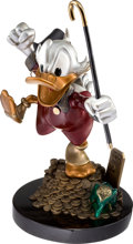 """Animation Art:Limited Edition Cel, Carl Barks """"Hands Off My Playthings"""" Uncle Scrooge Limited Edition Statue #153/179 (Walt Disney, 1997)...."""