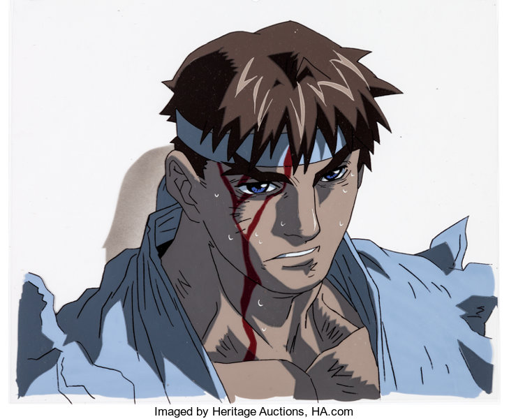 Street Fighter Zero Ryu Anime Production Cel And Animation