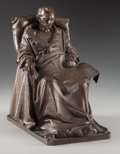 Fine Art - Sculpture, European:Antique (Pre 1900), After Vincenzo Vela (Italian, 1820-1891). The Last Days ofNapoleon, 1867. Bronze with brown patina. 11-1/2 inches(29.2...