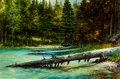 Fine Art - Painting, American:Contemporary   (1950 to present)  , Earl Carpenter (American, b. 1931). String Lake Outlet. Oilon masonite. 24 x 36 inches (61 x 91.4 cm). Signed lower lef...