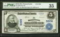 National Bank Notes:Pennsylvania, Belleville, PA - $5 1902 Plain Back Fr. 607 The Belleville NB Ch. #5306. ...