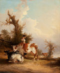 Fine Art - Painting, European:Antique  (Pre 1900), William Shayer (British, 1788-1879). Near the New Forest,Hampshire. Oil on canvas. 24 x 19-3/4 inches (61 x 50.2 cm)....