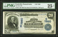 National Bank Notes:Pennsylvania, Frackville, PA - $20 1902 Date Back Fr. 642 The First NB Ch. #(E)7860. ...