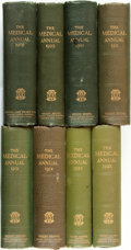 Books:Periodicals, [Annual Periodical]. The Medical Annual: A Year Book ofTreatment and Practitioner's Index. Bristol: John Wright...(Total: 8 Items)