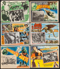 """Movie Posters:Science Fiction, Invaders from Mars & Others Lot (Cinematografica Reforma,1953). Mexican Lobby Cards (6) (12.5"""" X 16.5"""", 12.75"""" X 16.5"""",& 1... (Total: 6 Items)"""