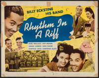 "Rhythm in a Riff (Astor Pictures, 1947). Half Sheet (22"" X 28""). Black Films"