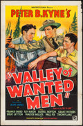 "Movie Posters:Western, Valley of Wanted Men (Conn Pictures, 1935). One Sheet (27"" X 41"").Western.. ..."