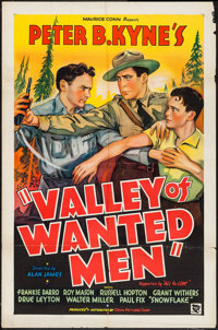 """Valley of Wanted Men (Conn Pictures, 1935). One Sheet (27"""" X 41""""). Western"""