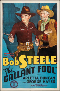 "The Gallant Fool (Monogram, 1933). One Sheet (27"" X 41""). Western"