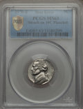 Errors, 1970-S 5C Jefferson Nickel -- Struck on a 10C Planchet -- MS63 PCGS Secure....