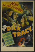 "Movie Posters:Crime, Dick Tracy (RKO, 1945). One Sheet (27"" X 41""). Crime. Directed byWilliam A. Berke. Starring Morgan Conway, Anne Jeffreys, M..."
