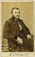 Autographs:Military Figures, Ulysses S. Grant: A Fine Autographed Carte de Visite. Until recent years, autographed CDV's of Grant's military opposite...