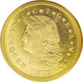 Proof Four Dollar Gold Pieces: , 1879 $4 Flowing Hair, Judd-1635, Pollock-1833, R.3, PR67 Cameo PCGS. The need for an exchangeable or international currency...
