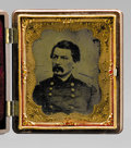 "Photography:Tintypes, George B. McClellan 1/6th Plate Tintype From An Engraving. A very unusual item that possibly dates to ""Little Mac's"" 1864 pr..."