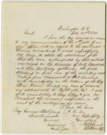 Autographs:Military Figures, JEB Stuart Autograph Letter Signed Dated December 21, 1855. An early JEB Stuart letter completely handwritten and signed by ...
