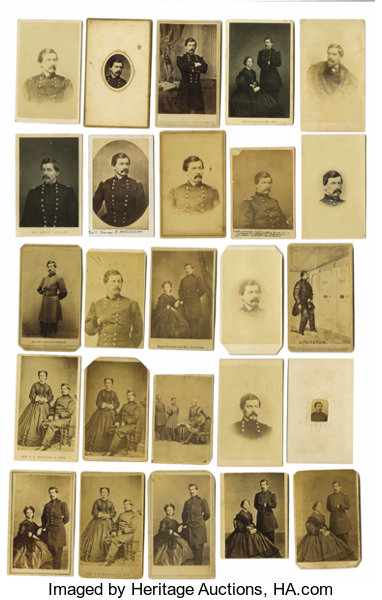 PhotographyCDVs Dealers Lot Of Twenty Five George B McClellan Cartes DeVisite