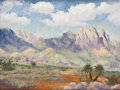 Paintings, EUGENE THURSTON (1896-1993). Untitled West Texas Scene. Oil on canvasboard. 12in. x 16in.. Signed lower left. A characteri...