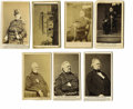 "Photography:CDVs, Seven General Winfield Scott Cartes de Visite. This lot highlights the man known as ""Old Fuss and Feathers"", Winfield Sc... (Total: 7 items)"