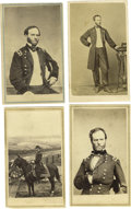 Photography:CDVs, Gen.William Tecumseh Sherman: Four Scarce Cartes de Visite:Standing pose (S. M. Fassetts, Chicago); on horseback (Antho...(Total: 4 )