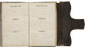 Military & Patriotic:Civil War, Union Soldier's 1862 Diary Written By Lt. Alonzo E. Libby of the 4th Maine Vols. ...